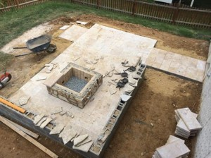 travertine patio construction