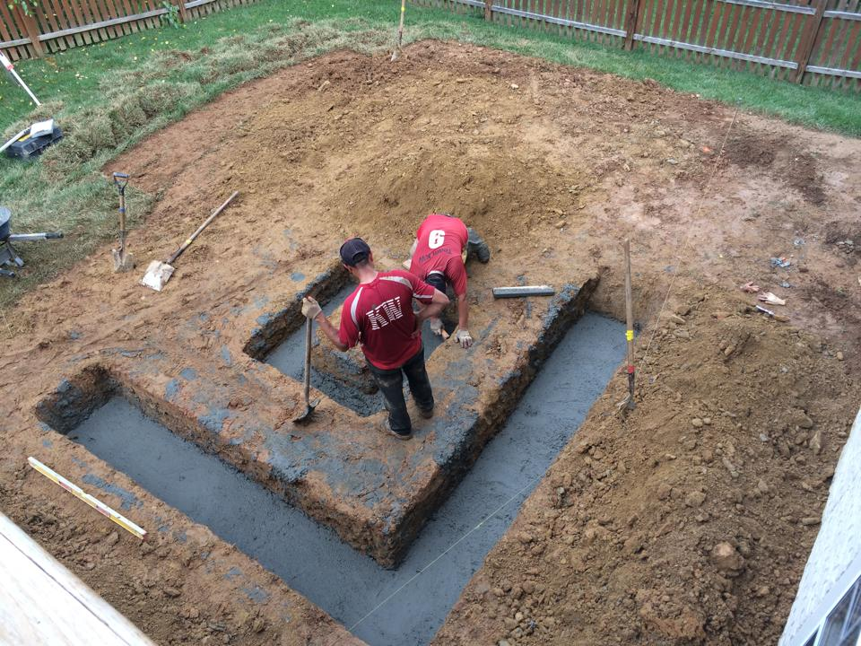 Travertine in your landscaping a maryland home travertine for Poured wall foundation