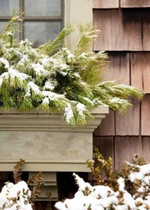winter window box planter