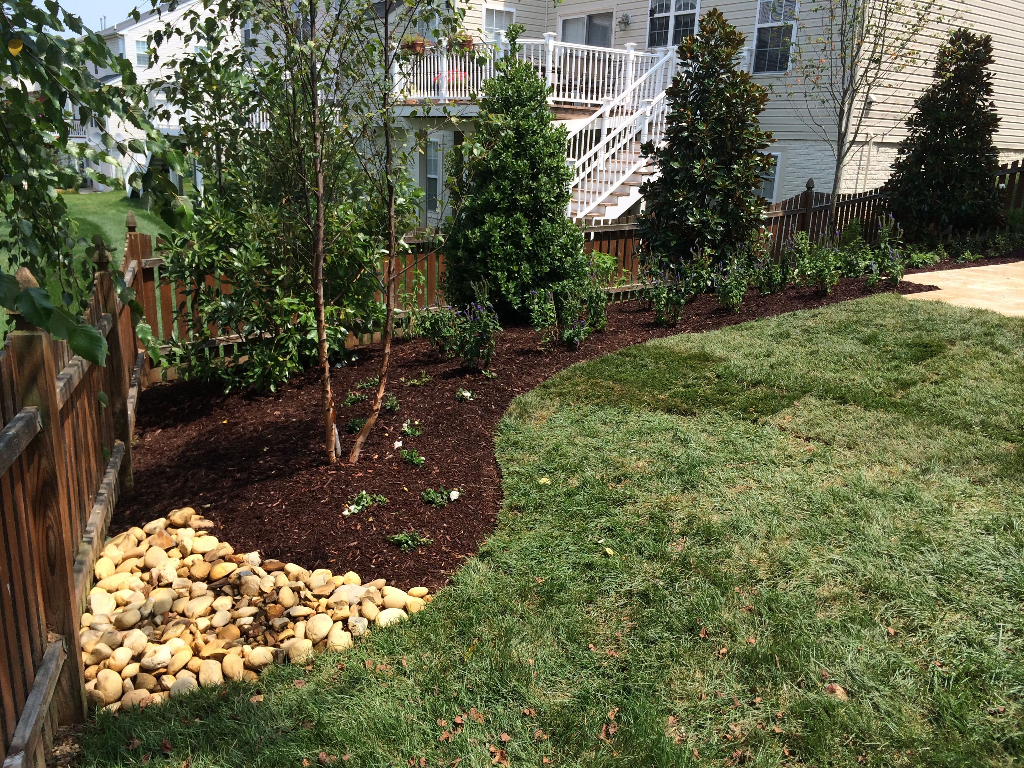 garden mulch pollinator demonstration installed glen abbey at